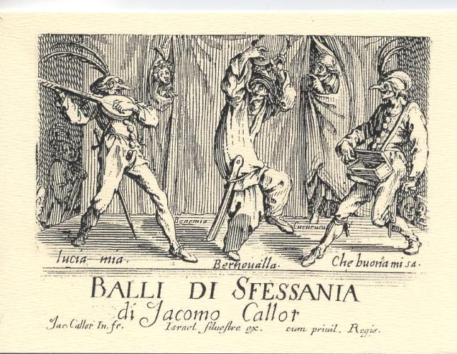 Jacques Callot, Balli di Sfessania