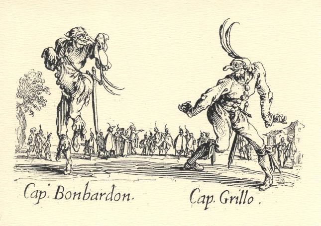 Jacques Callot, Cap. Bonbardon and Cap. Grillo