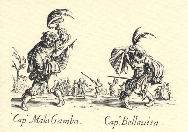 Jacques Callot, Capitano Mala Gamba and Capitano Bellauita
