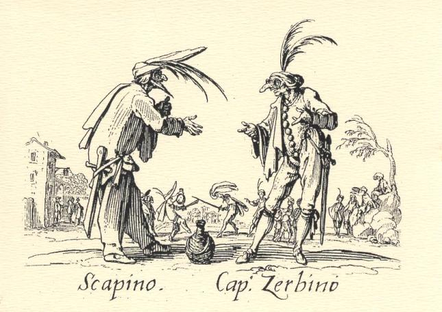 Jacques Callot, Scapino and Cap. Zerbino