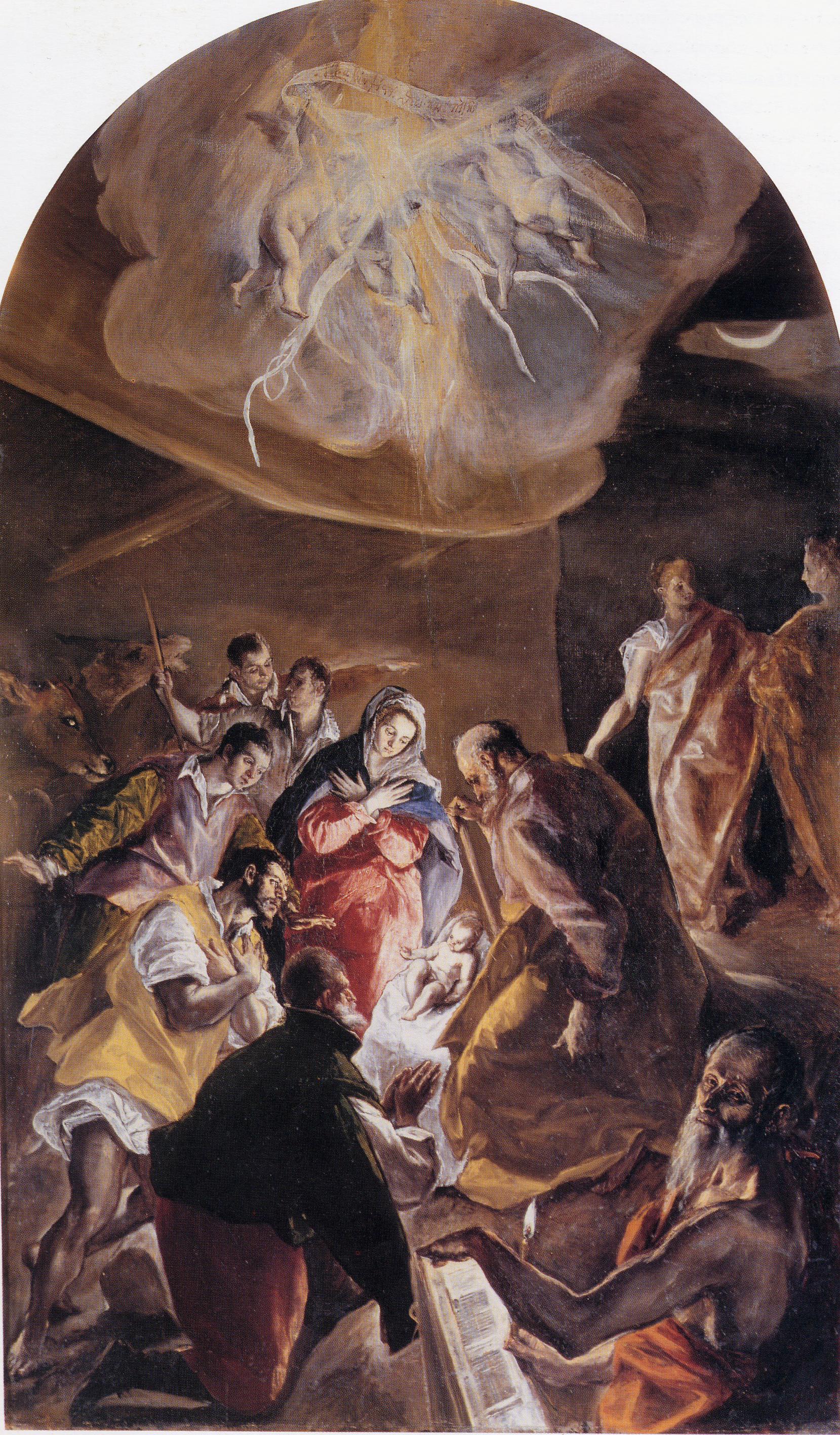 EL GRECO - La Adoración de los pastores.(1577-1579). Óleo sobre lienzo.  Madrid, colección particular