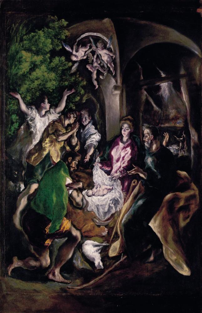EL GRECO - La Adoración de los pastores (1603-1608).  Óleo sobre lienzo. Metropolitan Museum, New York